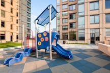 Building amenities: outdoor playground on site.