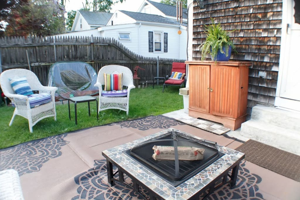Relax and unwind in our beautiful backyard.