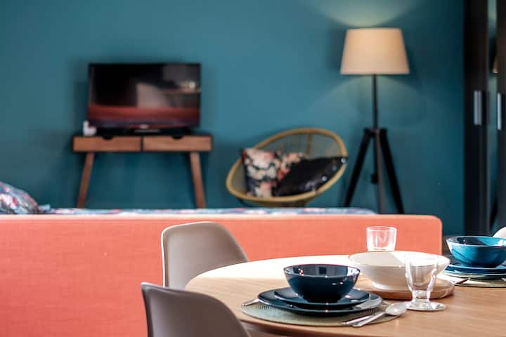 Colorful Studio-terrasse à proximité de Waterloo