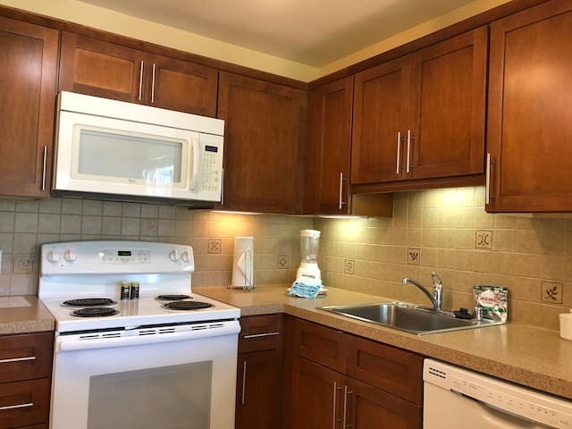 Full Kitchen. Includes all that guests need  to feel at home and enjoy their stay.