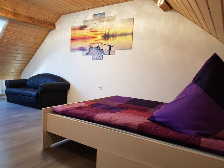 Fully furnished nice attic apartment 42 m2.