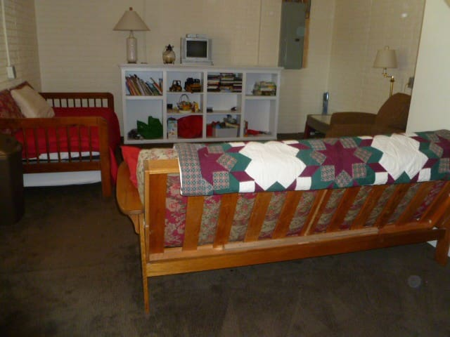 Basement room is a walk-out with natural light and serves mainly as a play space with toy shelves & games