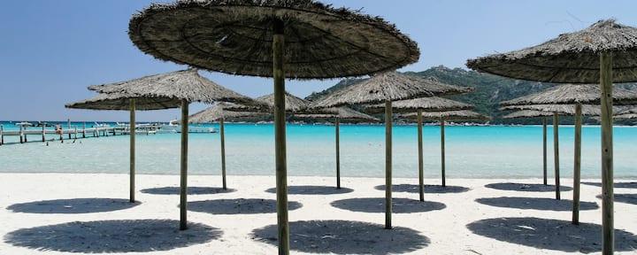 Mini-villa T2, vue mer, climatisée, wifi, plage
