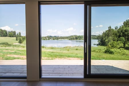 Contemporary design lake cabin - Otepää Parish - Casa