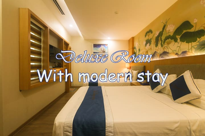@1 Deluxe stay with two single beds in Trung Hoa
