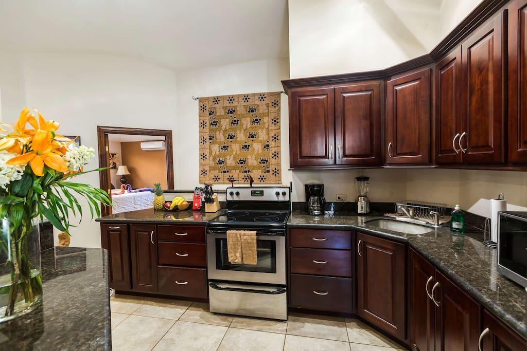 Kitchen Stocked with All of Your Dining Needs!