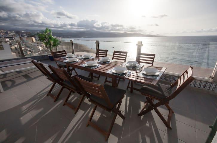 Terrace Penthouse Las Canteras beach
