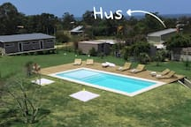 Casa HUS en complejo con piscina