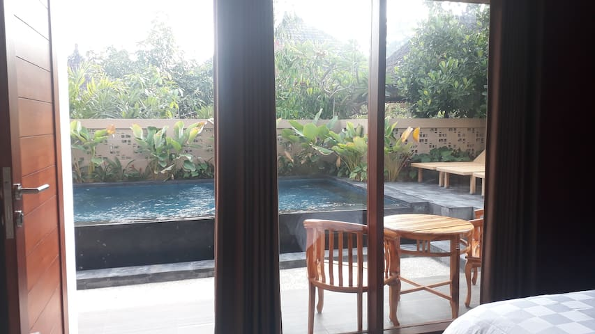 Sanur New homestay, AC, Pool, Wifi,  Beach 650m!