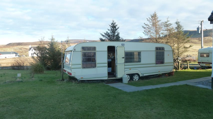 Self Catering, Caravan,  Kilmuir, Isle of Skye, - Bornisketaig - Autocaravana