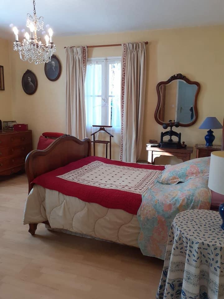 Chambre avec salle de bains proche Villefranche