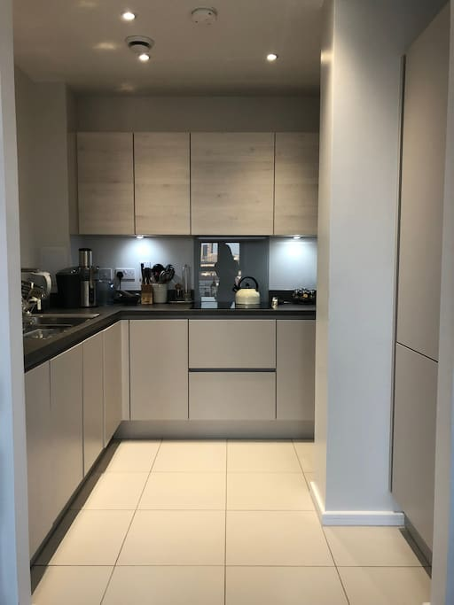 Kitchen connected to lounge