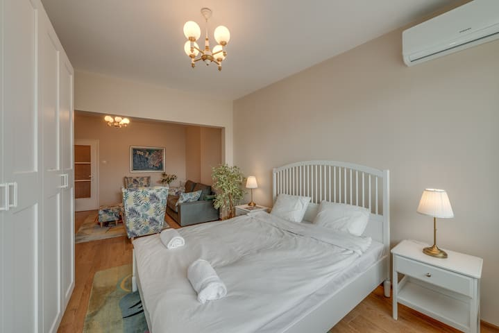 Bedroom with air conditioning