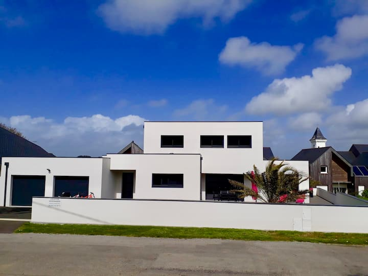 Maison au port de Tréhiguier proche des plages