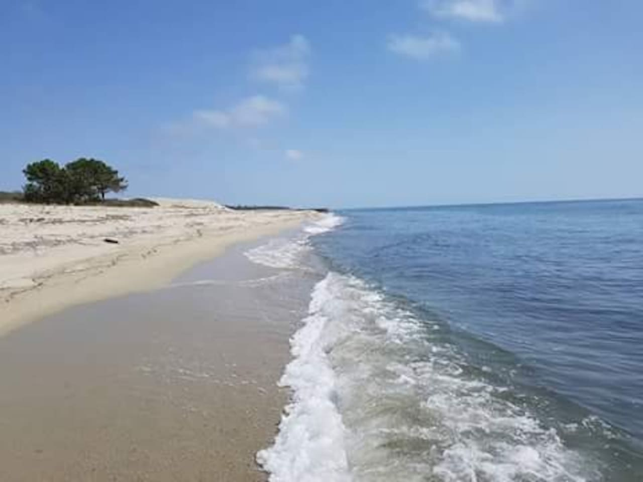 La plage de Pinia