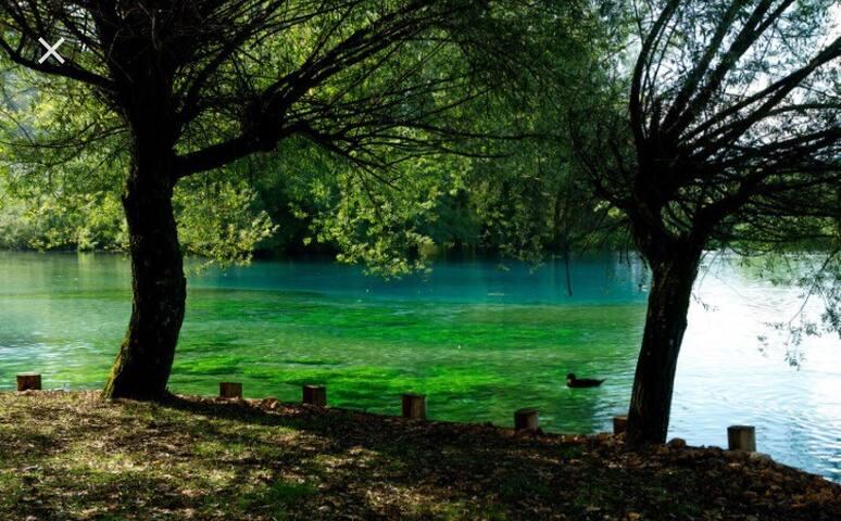 Stanza matrimoniale in villa nei pressi del lago