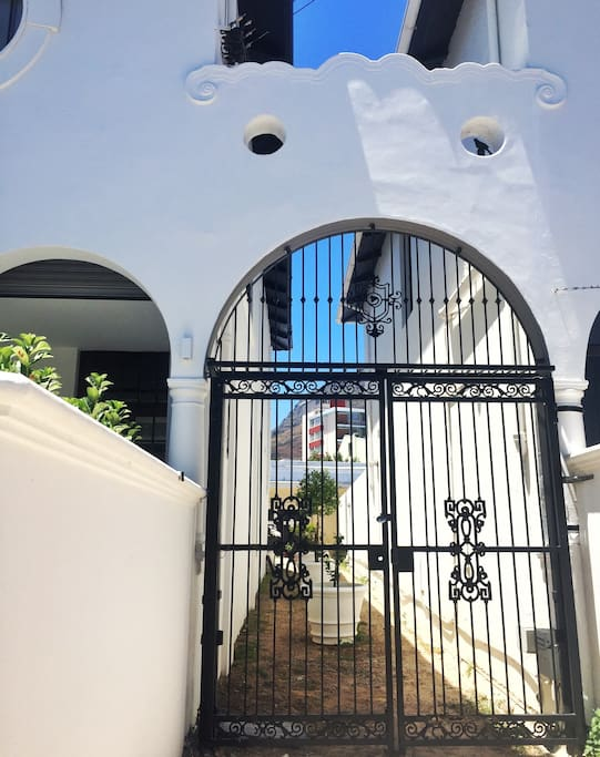 The private gate for the cottage