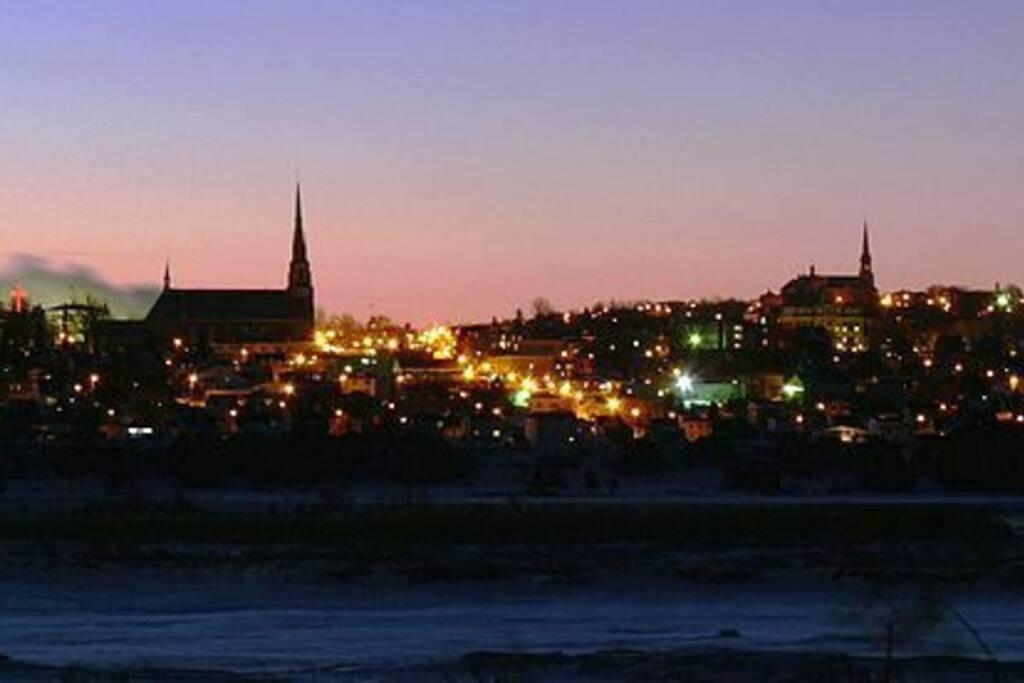 Vue de la ville - soiree