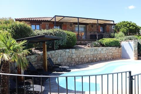Villa con encanto y Plage de Santa Giulia y piscinas