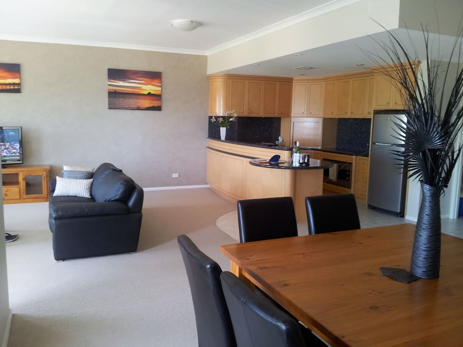 Dining, lounge , kitchen