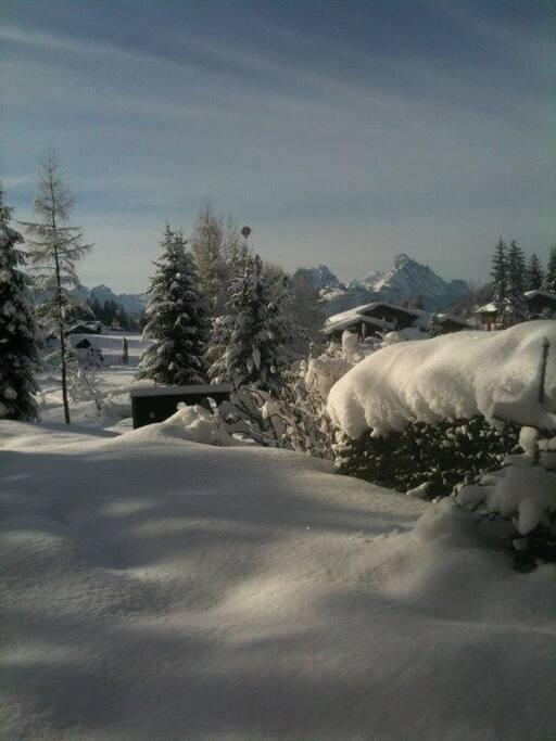 Aublick Terrasse im Winter 1 - Mit Rübelhorn