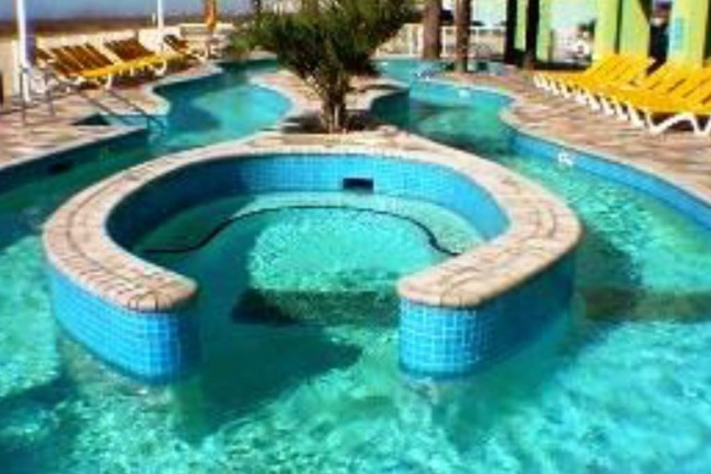 This is the lazy river at the resort, tubes are available too.