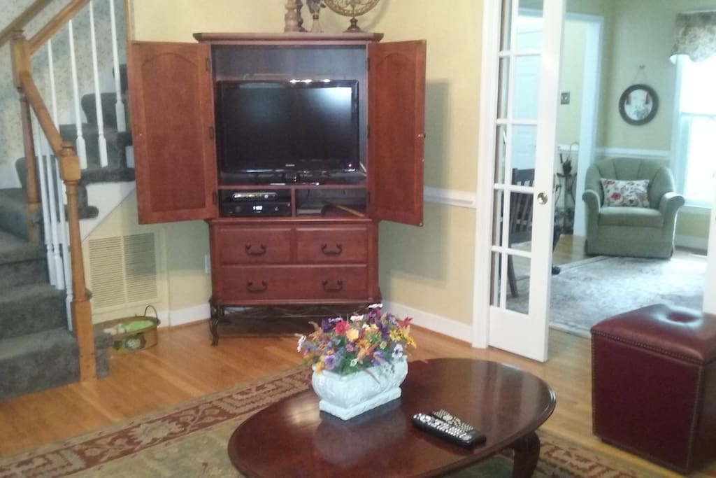 Living room, showing the TV.