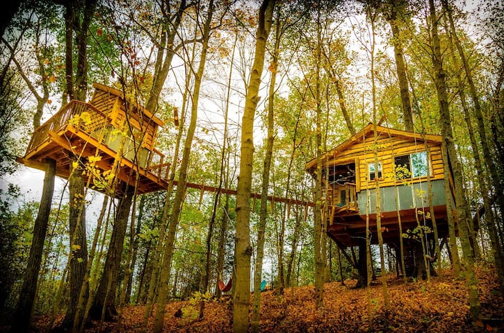 "TreeHouse ""ALIYAH"" Off the grid+hiking adventures"