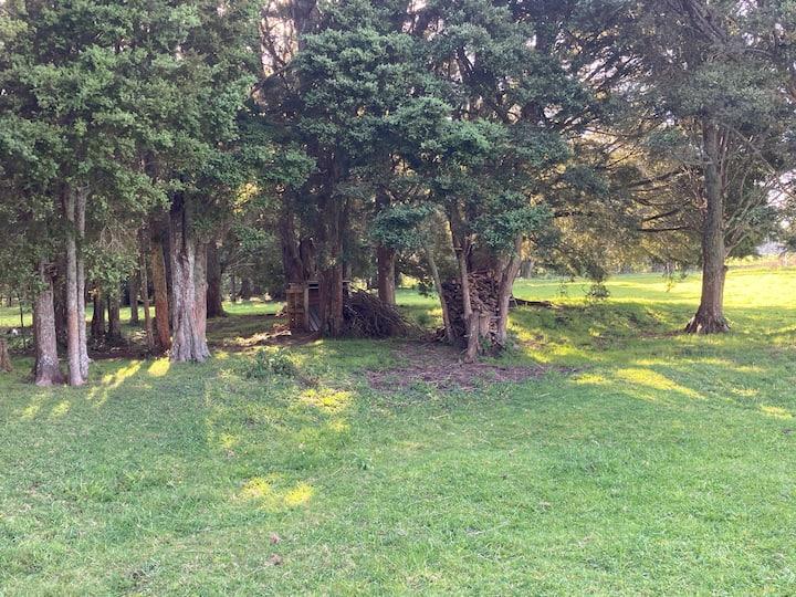 Rural camping Outdoor semi bush setting, menagerie