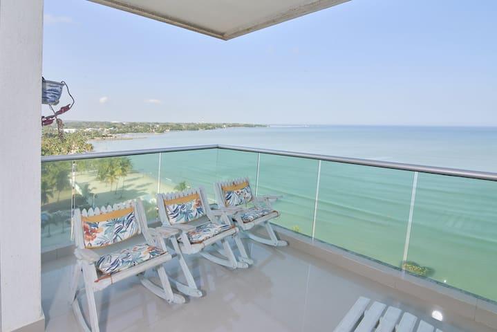Hermoso Apartamento Frente al Mar 3 Habitaciones