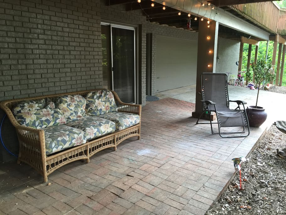 Private patio with private room entrance