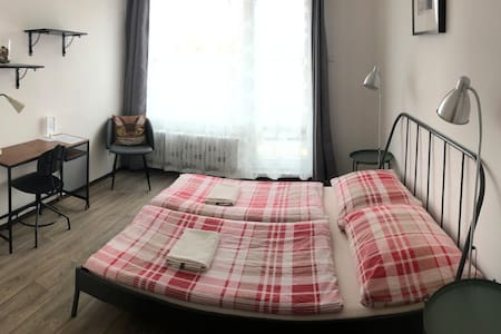 Room for 2 w.terrace, near Wenceslas sq.