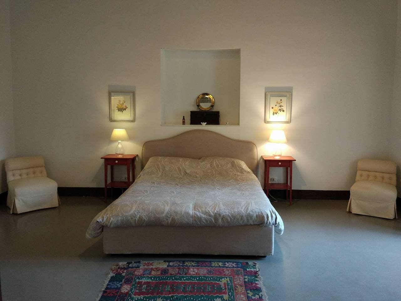 """Our """"Peppina"""" room, the ensuite room of the Palazzo."""