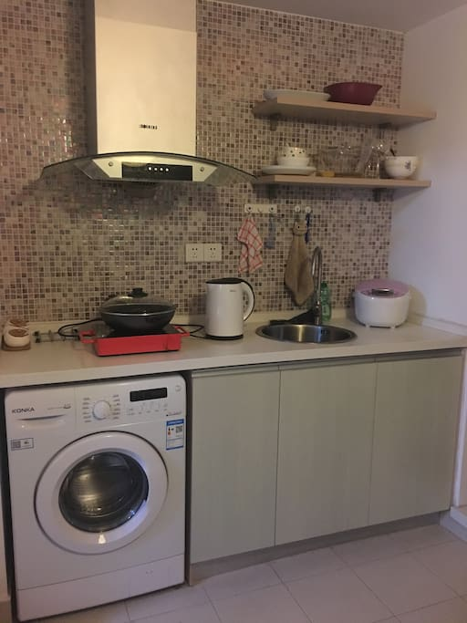 新添了洗衣机,客人入住更舒适方便啦