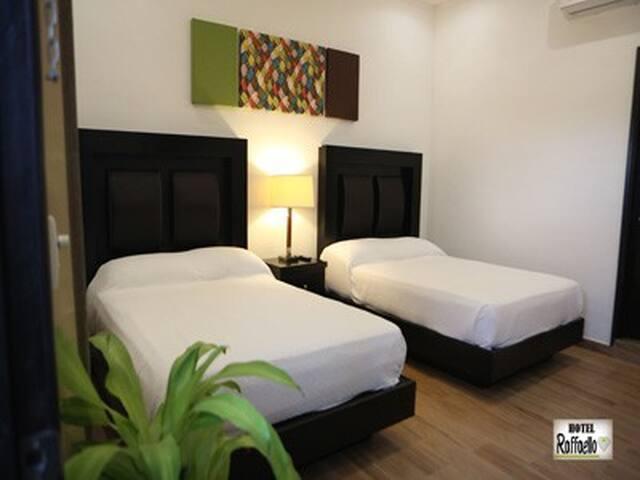 Hotel Raffaello, habitación doble cama matrimonial
