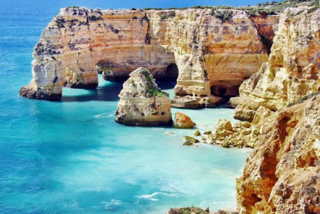 Nearby Praia da Marinha, considered the most beautiful beach in the world