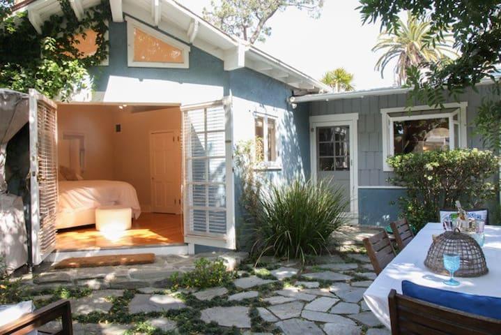Backyard and master bedroom
