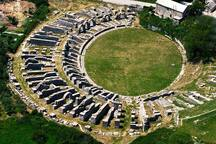 CITY OF SOLIN - ANCIENT ROMAN CITY SALONA WITH WELL PRESERVED REMNANTS INCLUDING AMPHITHEATER