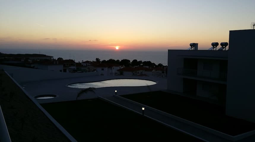 Sunset view from our terrace