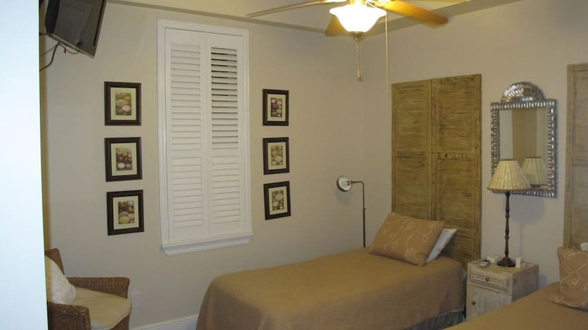 Bedroom #2 with twin beds.