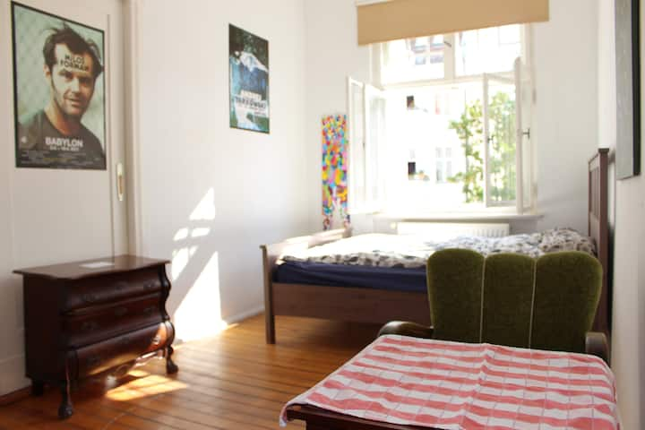 Nice bright room in a central neighborhood