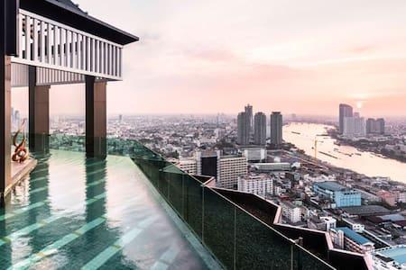 Luxurious Living/ BTS 3 Min Walk/ River View - 曼谷 - 公寓