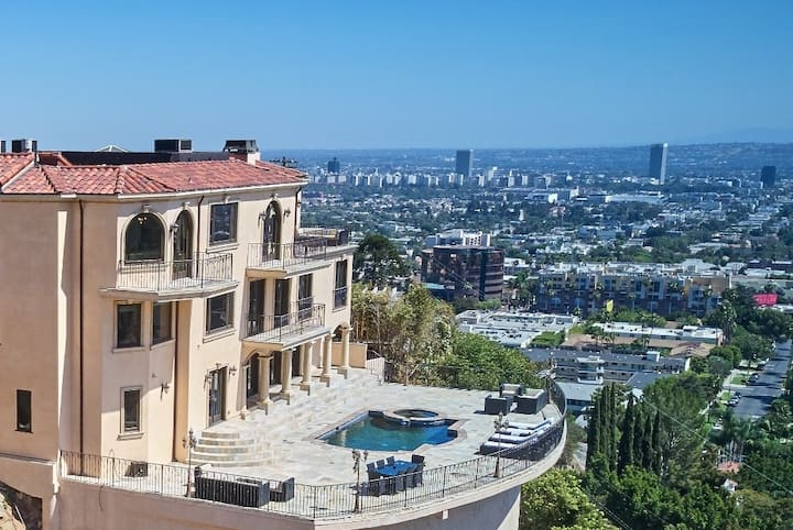 Gated Hollywood Hills View Estate