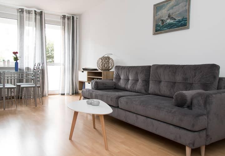 Skandynawski  apartament  w centrum  Sopotu .