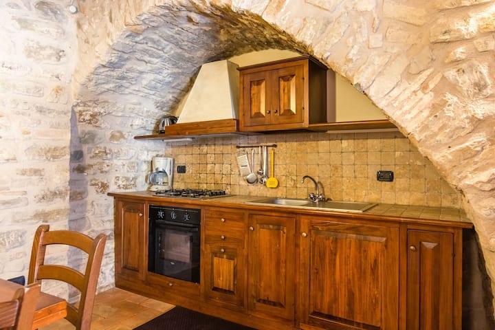 Casa de campo restaurada para seis en Gubbio Umbría