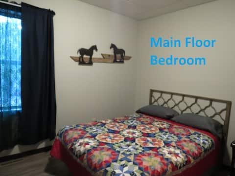 ROSEDALE LODGE--Main Floor Bedroom- 1 Queen bed