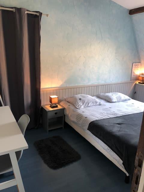 Chambre bleu privée cherbourg en cotentin