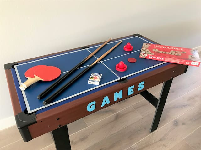 Mini-Pool Table & Games in Common Space