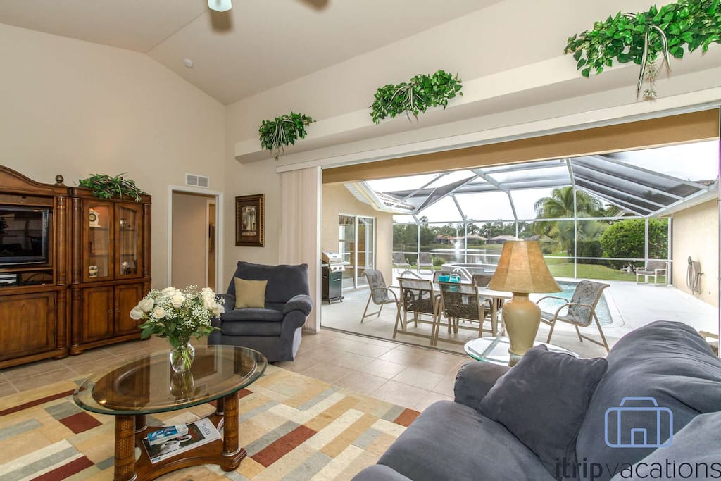 Embrace the Florida lifestyle with this flowing indoor/outdoor living space.
