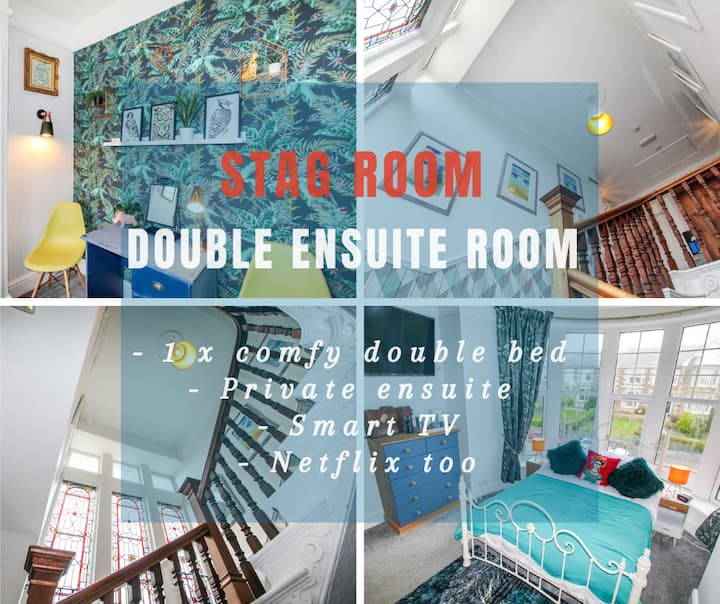 Lansdowne - Stag Room - Renovated Ensuite Bedrooms in Grand Edwardian Townhouse